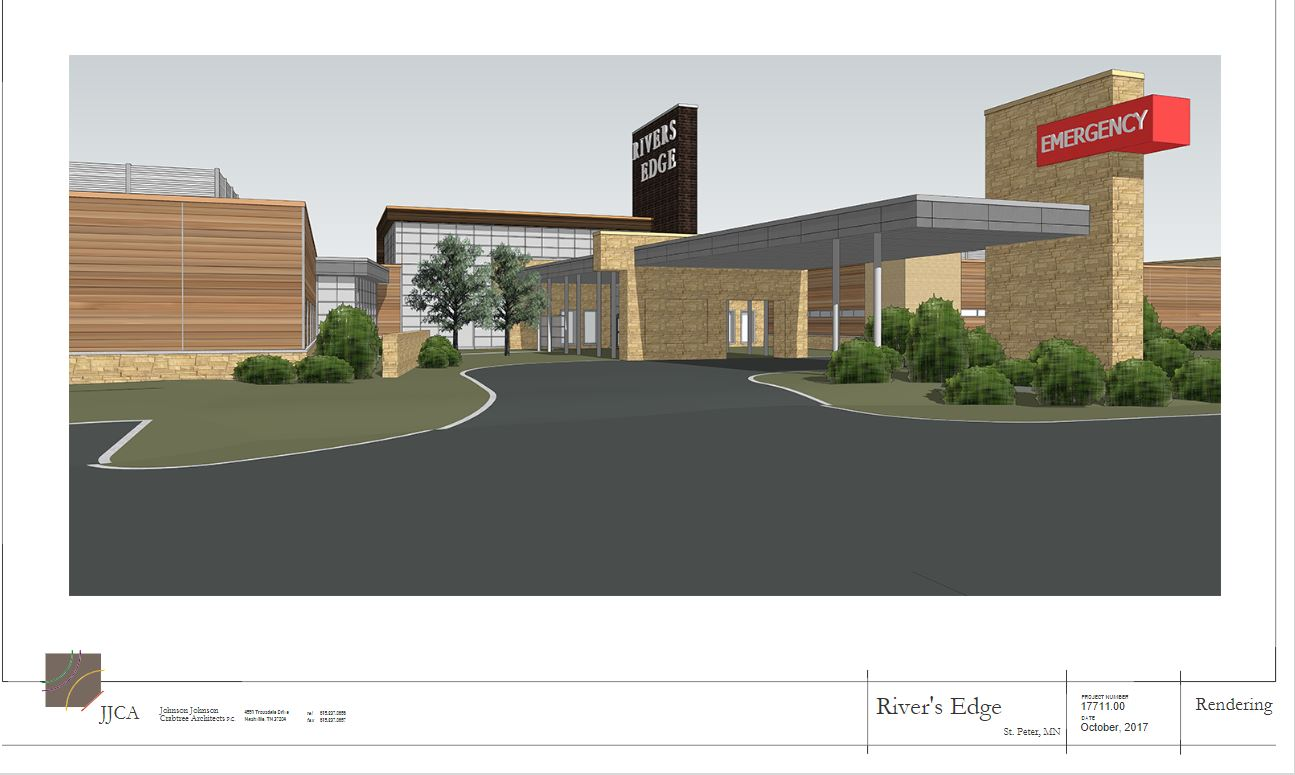 Artist rendering of new main entrance located on Sunrise Drive